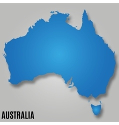 Map australia continent country vector