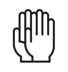 Medical gloves sign vector