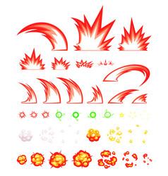 Miscellaneous slash game sprites vector