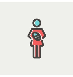 Mother breastfeeding her baby thin line icon vector image