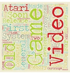 old game systems text background wordcloud concept vector image