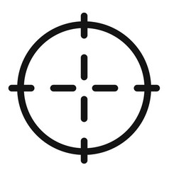 Optical sight icon simple style vector