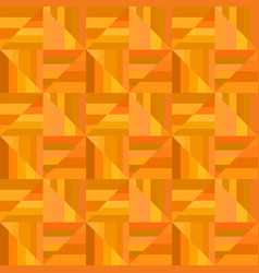 Orange abstract striped square tile mosaic vector