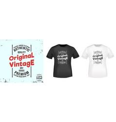 original vintage t shirt print stamp vector image