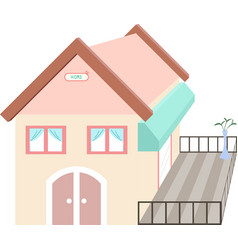 Pastel house vector