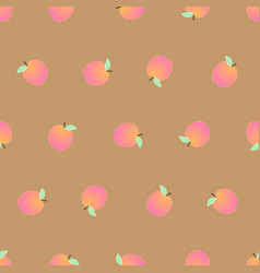 peach seamless on brown background vector image