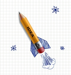 Pencil rocket Stock vector
