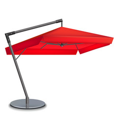 Realistic 3d detailed red umbrella cafes vector