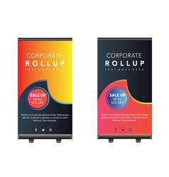 Roll up banner design vector