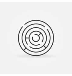 Round maze icon vector