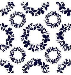 Seamless hand drawn butterflies pattern-01 vector