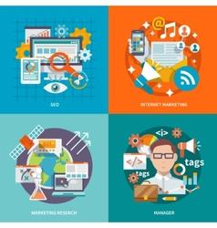 Seo Internet Marketing Flat vector