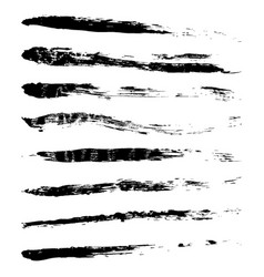 set grunge paint brushes high resolution vector image