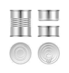 set of canned goods vector image