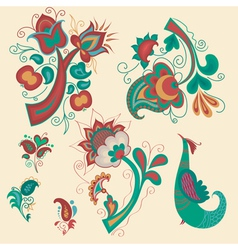 Set of patterns in Russian style vector image