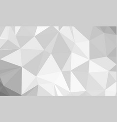 silver low poly background vector image