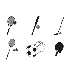 sport icon black white design flat vector image