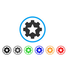 Star favorites options gear rounded icon vector