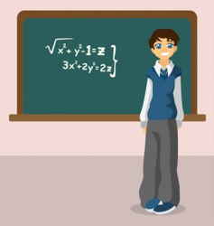 student blackboard vector image