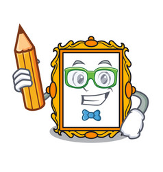 Student picture frame character cartoon vector