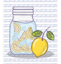 Summer lemonade juice vector