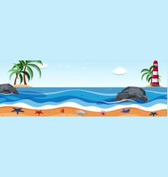 summer sea landscape template vector image