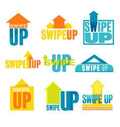 swipe up banner for social media advertisement set vector image