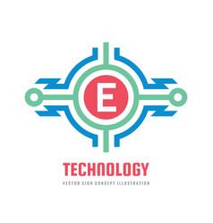 Technology letter e - logo template concept vector