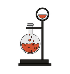 test tube science icon image vector image