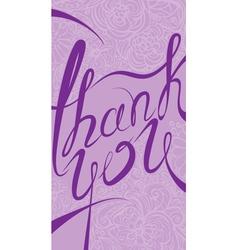 Thank you card 380 vector