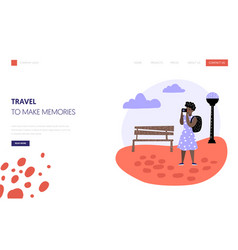 tourism and travel landing page template people vector image