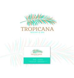 tropical logo resort and spa emblem vector image