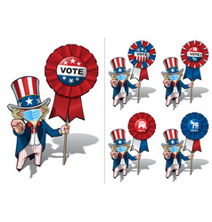 Uncle sam i want you to vote - surgical mask vector