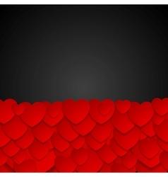 Valentine Day dark graphic design with hearts vector