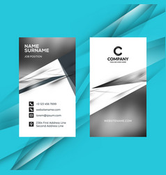 Vertical double-sided black and white business vector