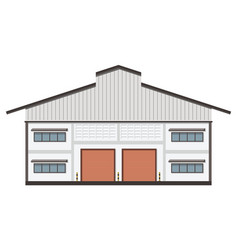 Warehouse transportation in flat style vector