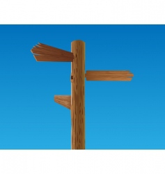 wooden crossroad sign vector image