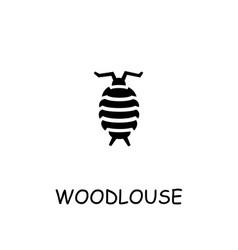 Woodlouse flat icon vector
