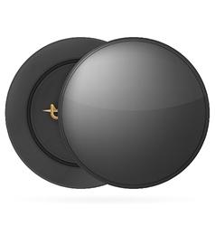 black round pin badge vector image