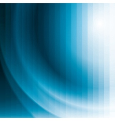blue business background with stripes and waves vector image
