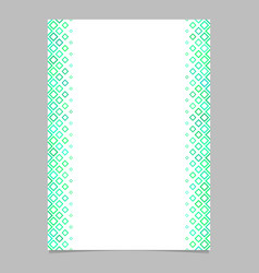 brochure template from green diagonal square vector image vector image