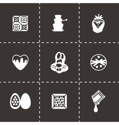Chocolate icon set vector image