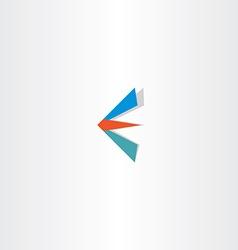 e letter logotype e sign logo icon vector image