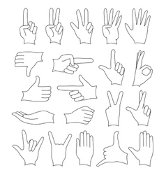 Hand signs icons set vector image vector image