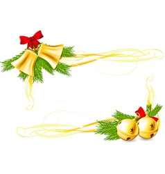 Jingle Bells and Christmas decorative corners vector image vector image