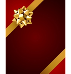 ribbon and bow background vector image