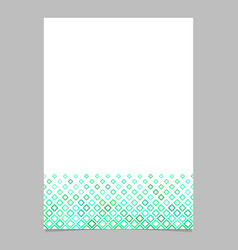brochure template from green diagonal square vector image