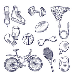 different sports fitness vector image