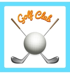 Golf icon with clubs and ball vector image vector image