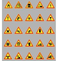 hazard lights vector image